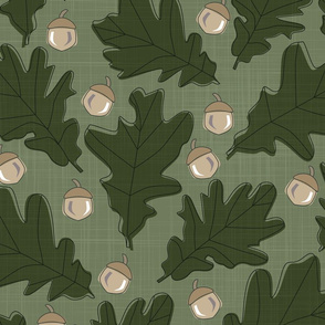 Forest - Leaves _ Acorns Olive