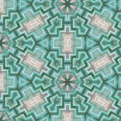 aztec snowflake vintage blue greens