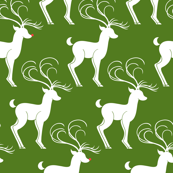 Rudolph & Friends (in Christmas Tree Whimsy Green)