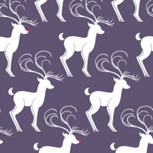 Rudolph & Friends (Christmas Tree Whimsy Purple)