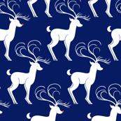 Rudolph & Friends (Jolly Santas in Pjs Blue)