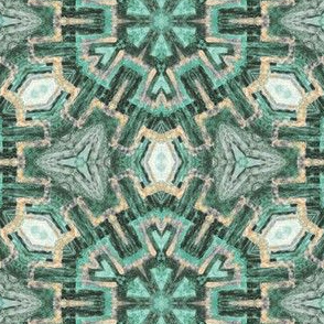 textural forest green snowflakes