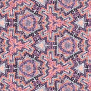 kaleidoscopic snowflakes in pinks