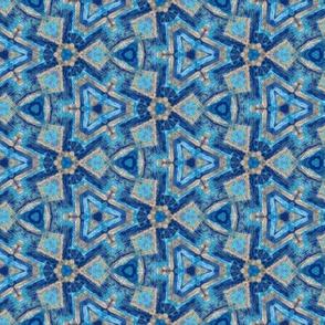 sapphire star mosaic kaleidoscope