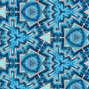 blue kaleidoscope geometric