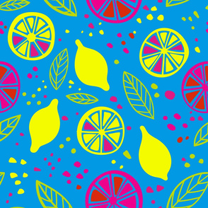 Citrus pop colors seamless pattern