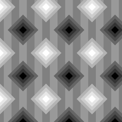 09436353 : diamonds on stripe : greyscale