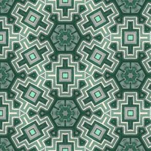 modern iznik in vintage painted greens