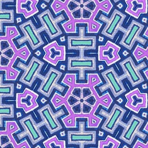 nineties surfie street Aztec snowflake in purple