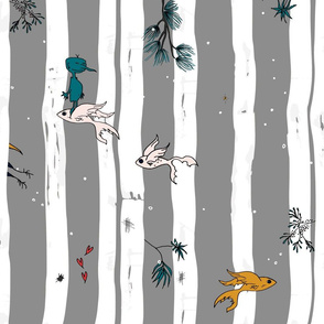 Whimsical Woodlands - Batik + Hand Drawn