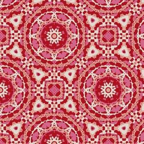 Mayan Geo - Red/Pink