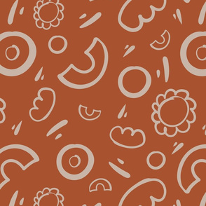 Playfully Hand Drawn-Orange