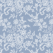 WHITE DUSTY BLUE