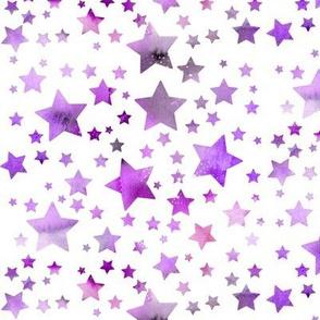 Stars - watercolour - purple