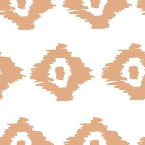 Boho Geometric Print Orange and White