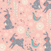 Winter Flower Bunnies