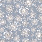 Winter Flower Blue Floral