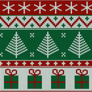 Christmas knit green (large scale)