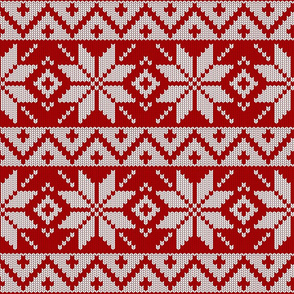 red Christmas knit (large scale)