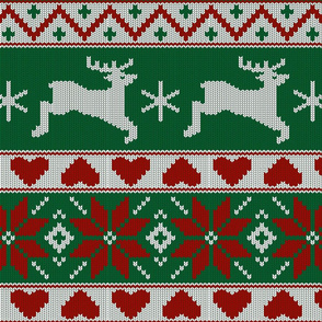 Christmas red knit (large scale)