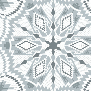 nordic  kaleidoscope grey