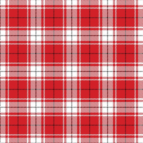 tartan white and red