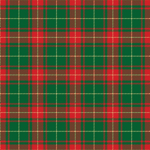 tartan red and green