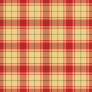 tartan red and yellow