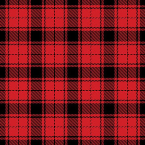 tartan black and red