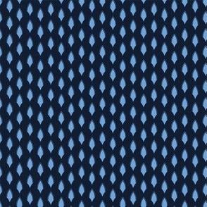 Indigo blue geometric shape pattern.