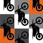 Team Orange Checker Silhouette KTM Vertical