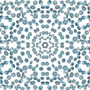 Candy Kaleidoscope Blue