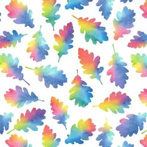 Autumn leaves - rainbow