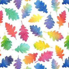 Autumn Leaves - rainbow #2