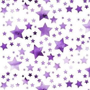 Stars-  watercolour purple #2