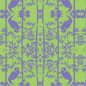 Birdsong Bamboo Lavender Sprou Green