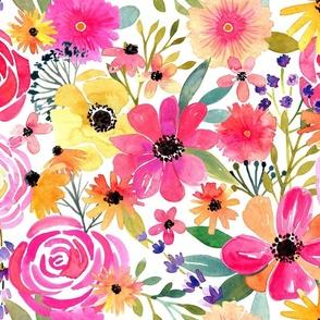 Watercolor Flower Frenzy