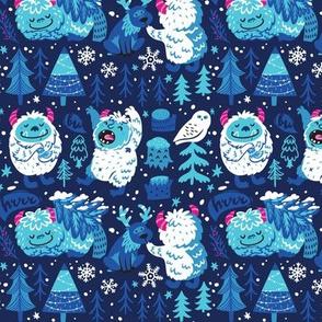 Sasquatch in the snow