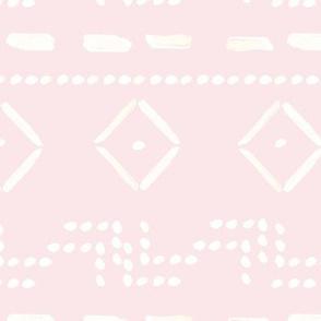 Sticks and Stones Mudcloth Pink