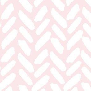 Twig and Bloom Herringbone on Pink