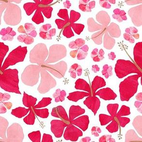 Hibiscus and Geranium