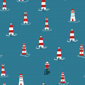 Lighthouses in ocean
