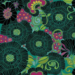 1970s Floral Rubies