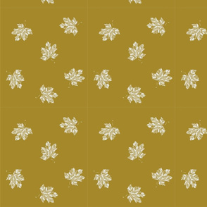 leaves dots mustard