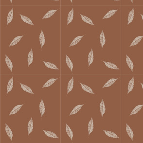 leaves_dots_pattern_brown