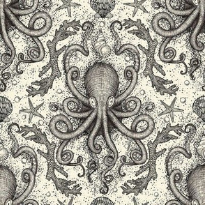 Octopus Repeat- Parchment Ivory