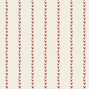 wide stitch cream baseball -SMALL 263
