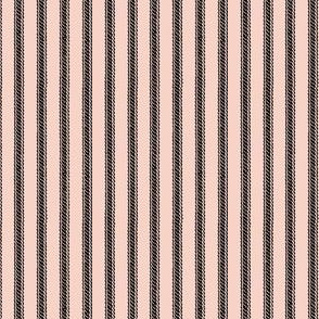 Ticking Stripes - Seashell Pink