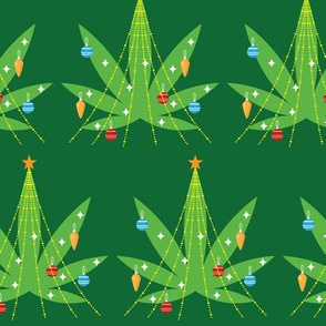 Cannabis Christmas Tree Green
