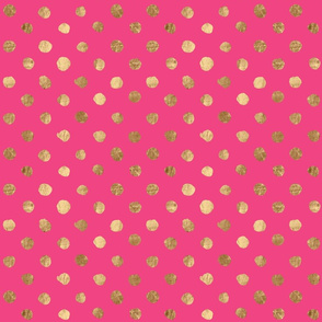 Gold Dot Bright Pink